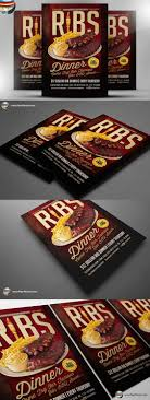 flyer template flyers and ribs ribs dinner flyer template