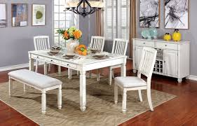 Kaliyah 7 Piece White Kitchen Table With Chairs