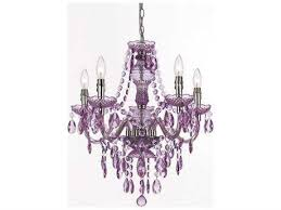 af lighting fulton chrome five light 21 5 wide mini chandelier with purple accents