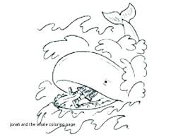 Jonah And The Whale Coloring Pages Inside Page Awesome Beginners