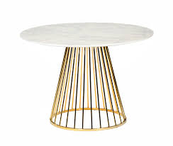 modrest holly modern white gold round dining table