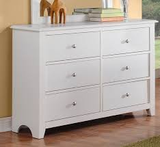 F4256 Diana white finish wood 6 drawer bedroom dresser