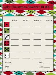 Bunco Score Sheets Template Beauteous UGLY Christmas Sweater Bunco Score Sheet BUNCO Pinterest