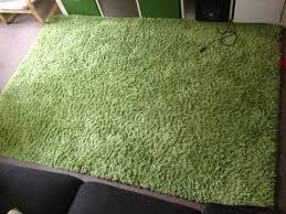rug high pile hampen bright green ikea