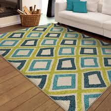 orian rugs indooroutdoor bright swirly squares area rug