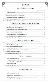 Free Wine List Template 24 Wine Menu Template Survey Template Words 4