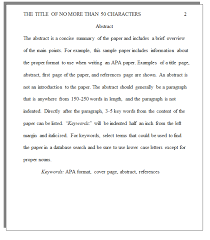 what does an apa style paper look like college of western idaho apa sample paper