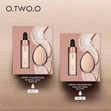 o two o face makeup base liquid foundation bb cream face primer matte effect velvet texture liquid drop foundations makeup set ping hungama