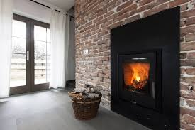 an example of using electric fireplace for decoration accent wall in the room