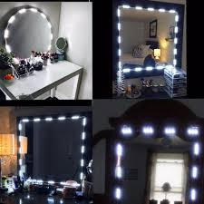 Light Up Makeup Vanity Us 18 34 Makeup Vanity Mirror Lights Dimmable 60 Leds 9 8ft Diy Led Make Up Light Kit 2800lm For Cosmetic Mirrors Kitchen With Remote In Wall Lamps