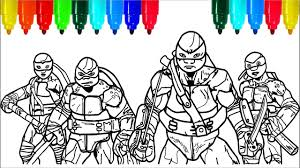 Teenage Mutant Ninja Turtles Coloring Pages 3 Colouring Pages