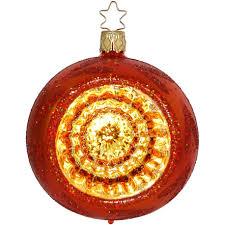 Spiegel Reflex ø 8cm Fairy Reflections Inge Glas Weihnachtskugeln Orange