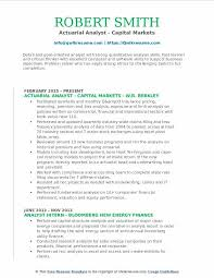 Actuary Job Description Enchanting Actuarial Analyst Resume Samples QwikResume