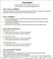 Objective Summary For Resumes Get Your Resume Template Three For Free First Job Resume