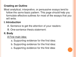 interpretive essay co interpretive essay creating an outline