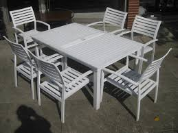 white metal outdoor furniture. White Metal Garden Table And Chairs Clean Modern Office Outdoor Bistro Ikea Furniture