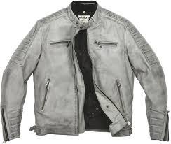 helstons cruiser rag men leather jackets grey