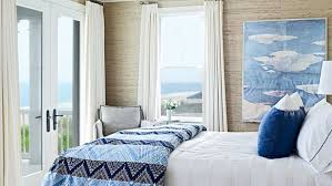 beach design bedroom. Delighful Bedroom Arrowroot Wallpaper Evokes The Dunes Outside While Oceangoing John  Robshaw Bedding And Sunny In Beach Design Bedroom T