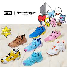 Bt21 X Reebok Classic Unisex Insta Pump Fury Shoes