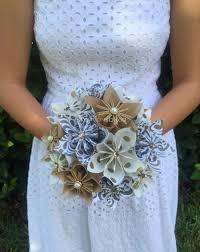 Wedding Paper Flower Centerpieces Gold Rush Paper Flower Bouquet Paper Bridal Bouquet Kusudama