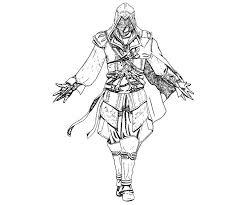 Assassins Creed Coloring Assassins Creed 3 Coloring Sheet
