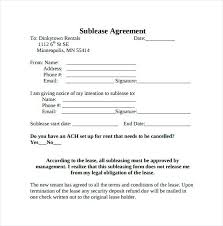 residential sublease agreement template. Residential Sublease Agreement Template Subtenant Agreement Template