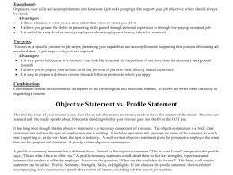 100 Resume With Objective Statement Objective For A
