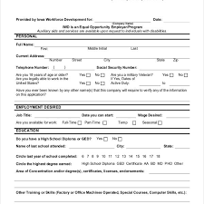 Sample Generic Employment Application Form 10 Free Documents In