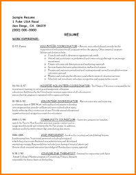 9 Volunteer Experience On Resume Example List Of Reference
