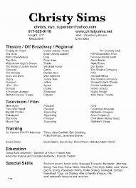 Musical Theatre Resume Best Of Sample Theatre Resume Bizmancan Com