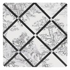White French Memo Board Beauteous Black French Toile Fabric MemoryMemo Photo Bulletin Board Only 3232