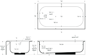 bathtub dimensions to average size standard tub gallons