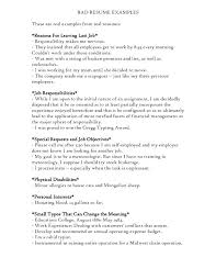 Bad Resume Sample Bad Examples Of Resumes A Resume Free Templates