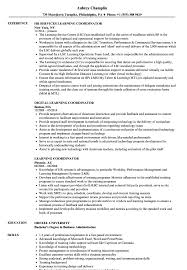 Learning Coordinator Resume Samples Velvet Jobs