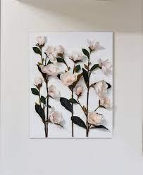 flower wall art pink magnolia 3d canvas