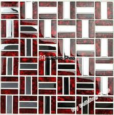 2018 red glass mosaic stainless steel tile backsplash ssmts021 silver metal mosaic glass tile bathroom wall tiles kitchen tile from kingstory
