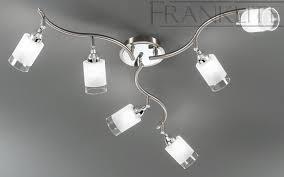 campani silver 6 spotlight ceiling light franklite lighting
