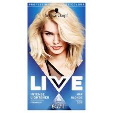 Live Intense Lightener 00b Max Blonde Hair Dye