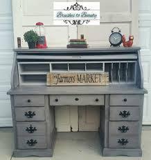 custom gray roll top desk