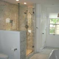 pony wall shower glass half design ideas pictures on nice 19