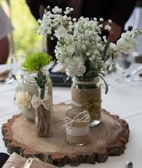 Decorated Jars For Weddings mason jars with flowers for weddings wedding table decorations 6