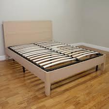Queen Size Platform Bed Frame Solid Wood Platform Bed Pedestal Bed ...