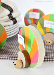 diy wood turkey place card holder love this cute thankgiving craft idea such a