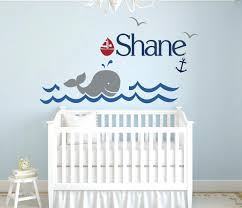 nursery baby name letter vinyl art wall decals baby