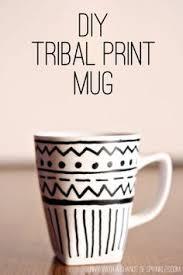 Sunny with a Chance of Sprinkles: DIY Tribal Print Mug
