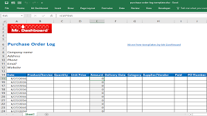 purchase order log template excel free purchase order template form and sample mr dashboard