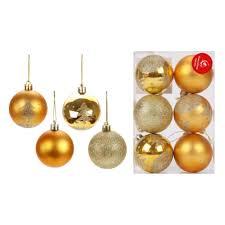 <b>Набор шаров Новогодняя сказка</b>, 6 штук, 6 см., золотой — купить ...