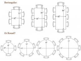 standard 6 seater dining table size designs
