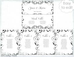 free wedding seating chart te word for table plan monster template round