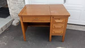 vintage solid oak typewriter desk